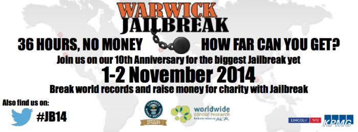 Warwick Jailbreak 2014 Poster