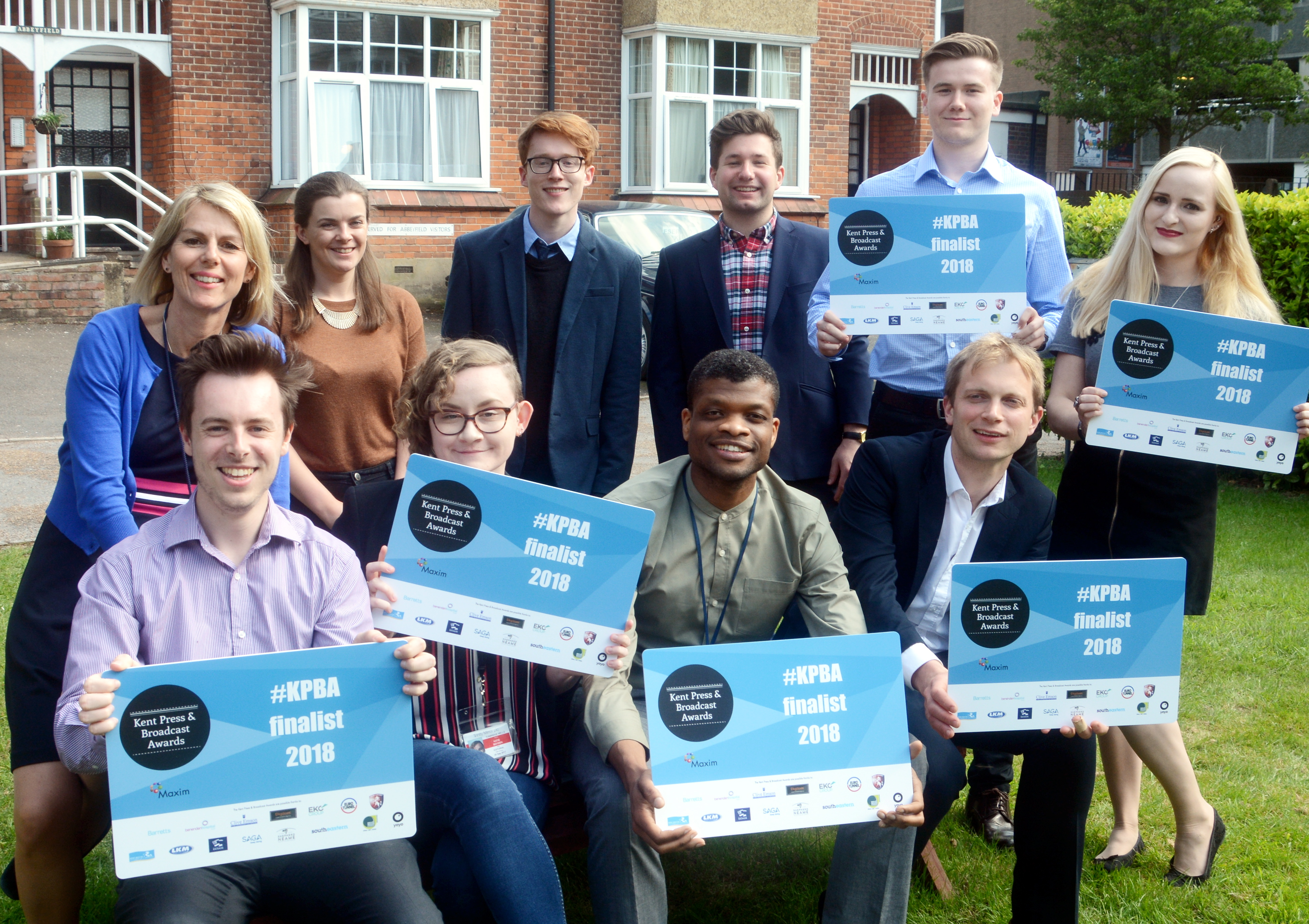 The Kent Live team as finalists in the Kent Press and Broadcast Awards 2018