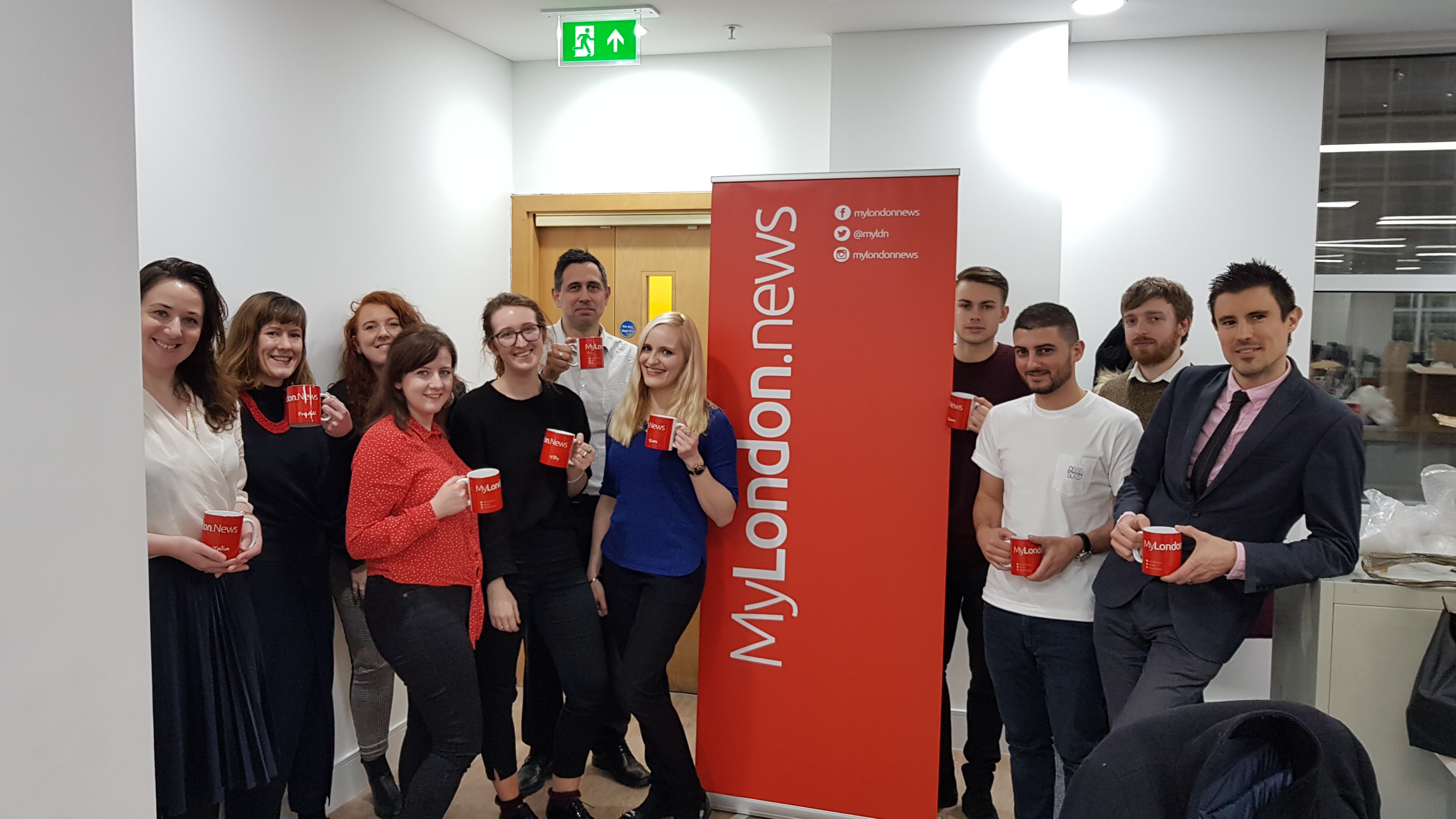 The MyLondon news team after moving to a new office in Lower Thames Street, London
