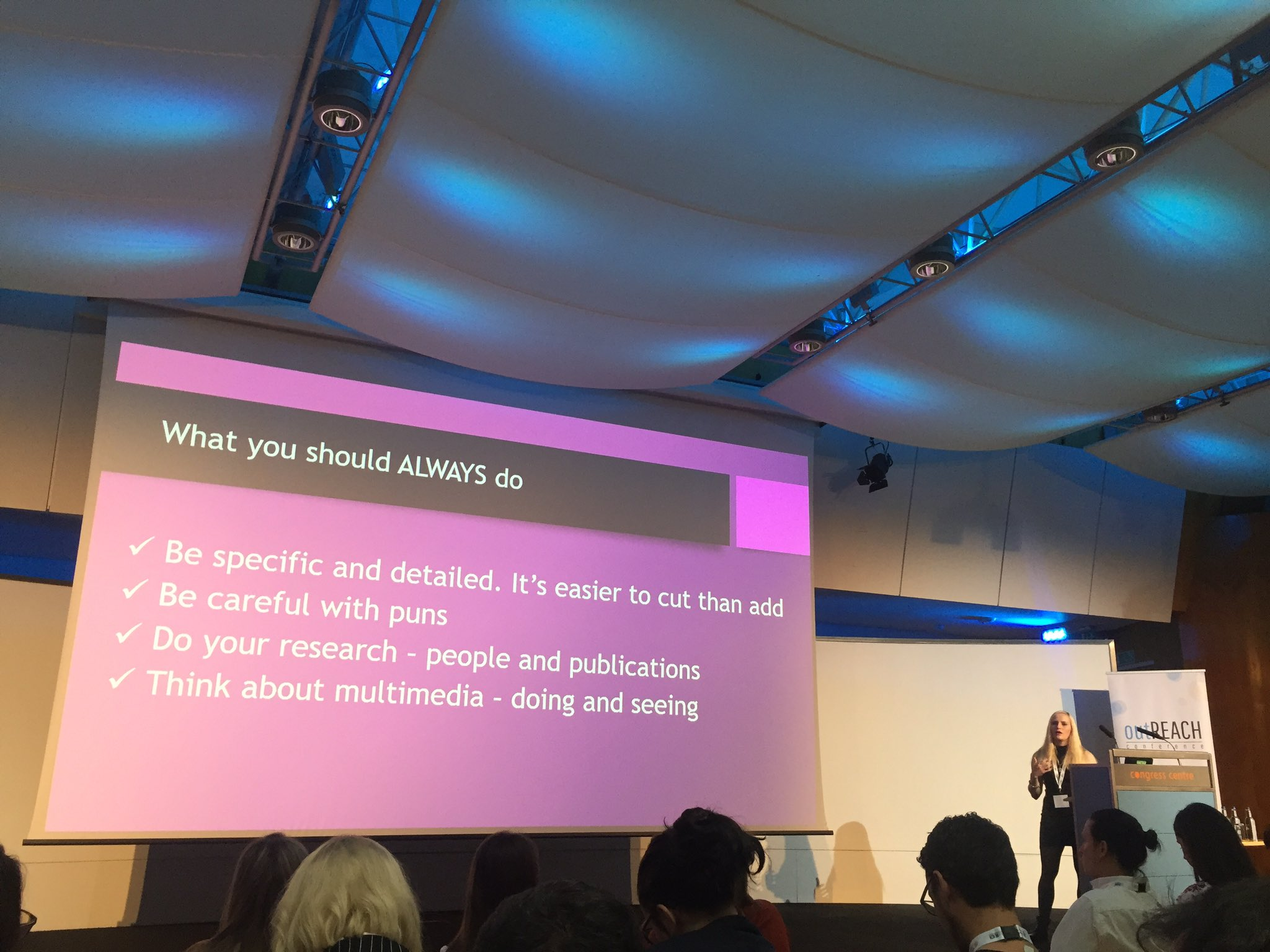 Speaking at Verve Search's outREACH conference in London, on the dos and don'ts of pitching to journalists