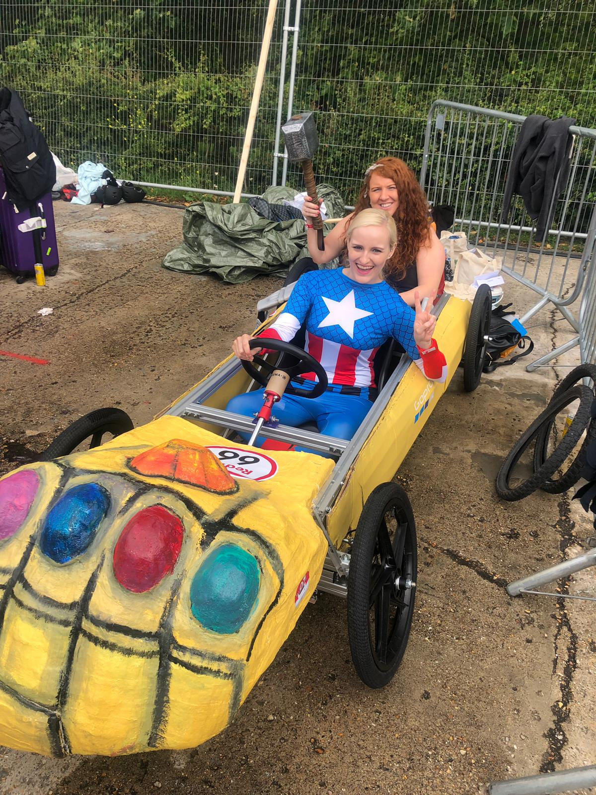 Appearance at the Red Bull Soapbox Race in London as part of an all-women team