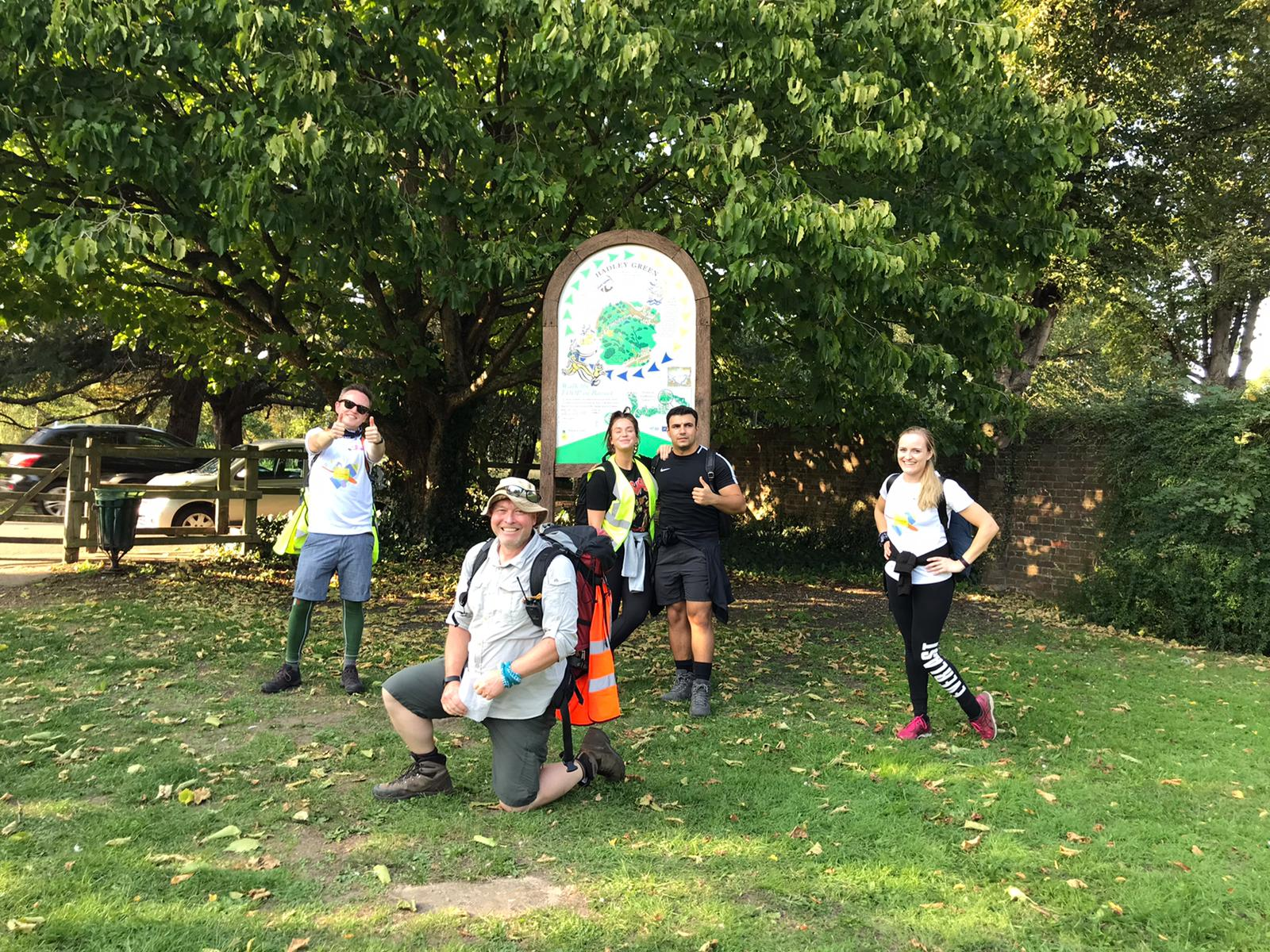 The Metro.co.uk London 10 Peaks Challenge team, with Vicky Pattison